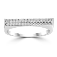 0.26 ct Ladies Round Cut Diamond Anniversary Wedding Band Ring ( G Color SI-1 Clarity)